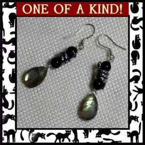 Snake & Labradorite Gemstone Earrings